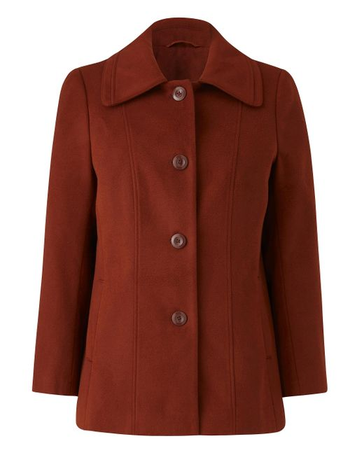Simply Be - Brown Collared Coat - Lyst