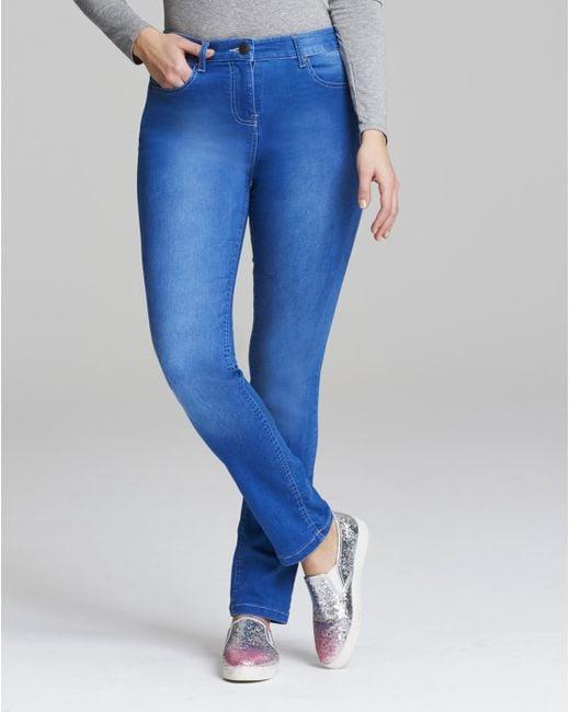 Simply Be - Blue Lexi High Waist Slim Leg Jeans - Lyst
