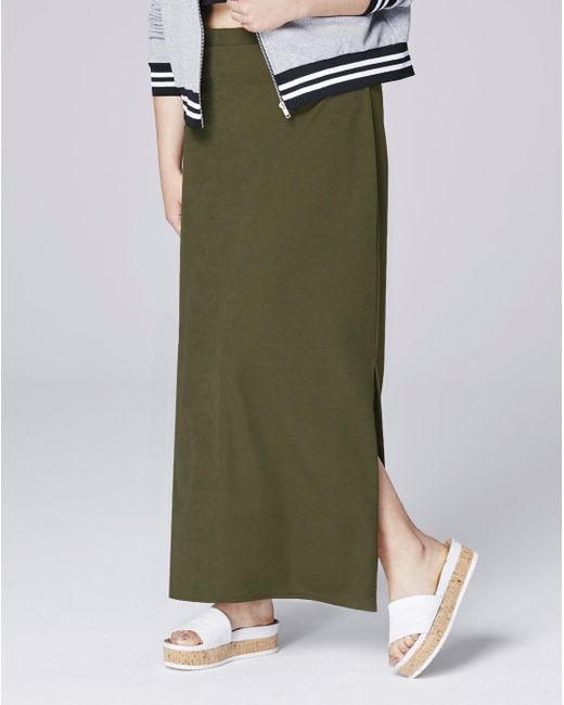 Simply Be - Green Doule Split Crepe Maxi Tube Skirt - Lyst