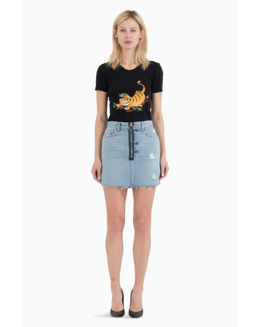 Siwy - Blue Madonna In Thelma And Louise Skirt - Lyst
