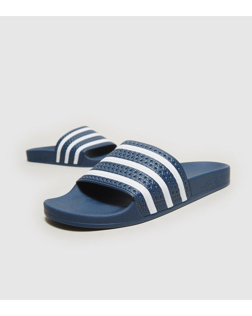 Adidas Originals | Blue Adilette Slides | Lyst