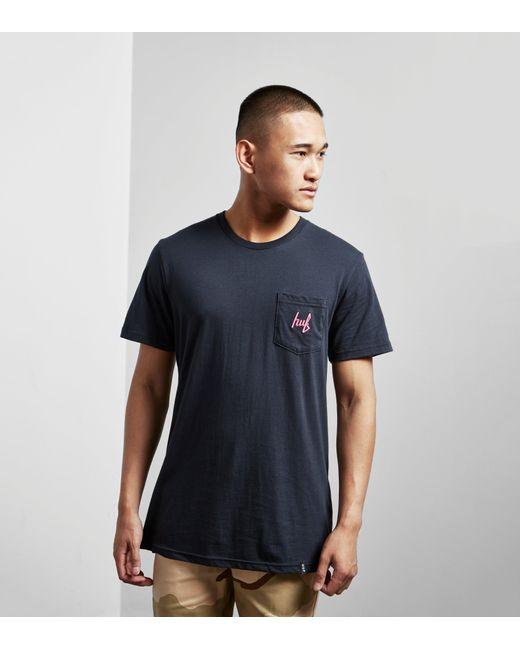 Huf | Blue Stage Pocket T-shirt for Men | Lyst