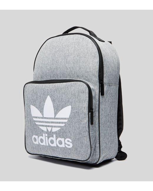 Adidas Originals - Gray Classic Trefoil Backpack for Men - Lyst ... 75969bca77d9d
