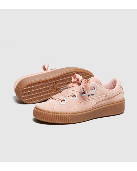 18f3a55c9d4 Lyst - Puma Suede Platform Kiss Women s in Pink