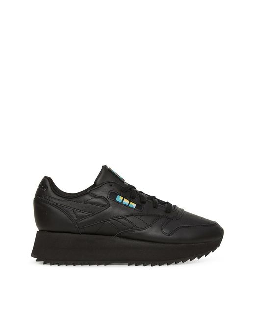 18ac9dd60c1 Reebok - Black Wmns Gigi Hadid Classic Leather Double Sneakers for Men -  Lyst ...
