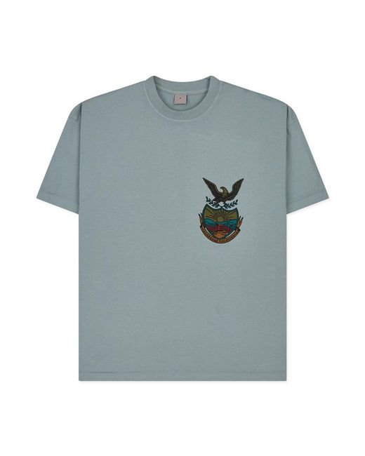 Yeezy - Blue Uni-sex T-shirt for Men - Lyst