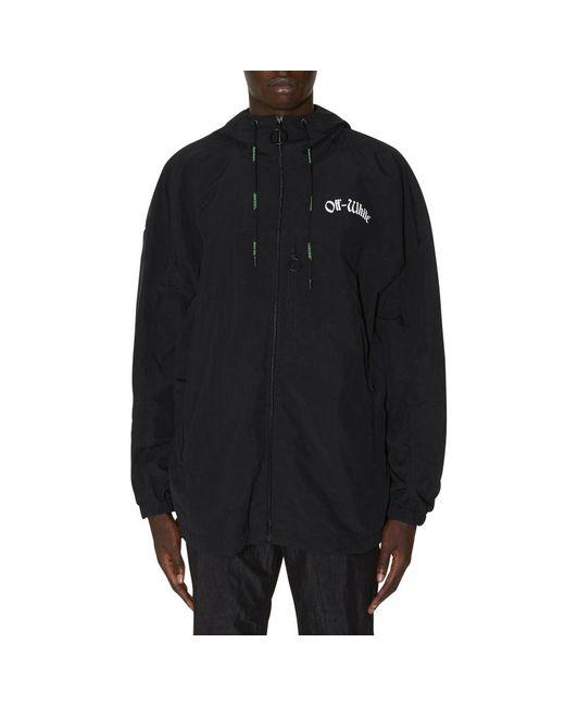 f9603bbd6db4 ... Off-White c o Virgil Abloh - Black Windbreaker Jacket for Men - Lyst ...