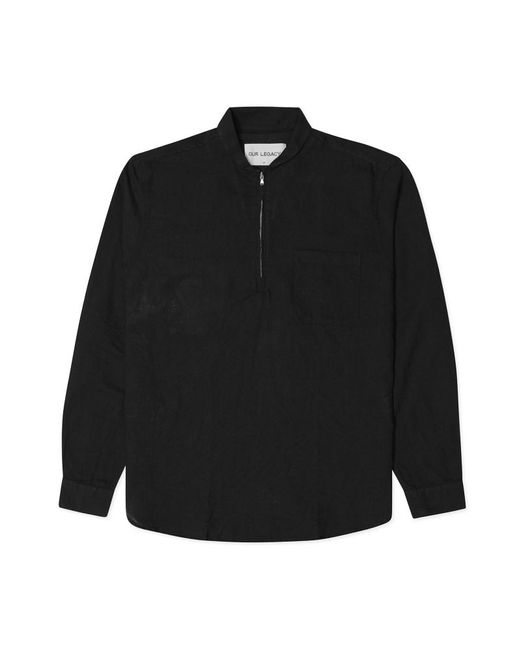 Our Legacy - Black Shawl Zip Shirt for Men - Lyst