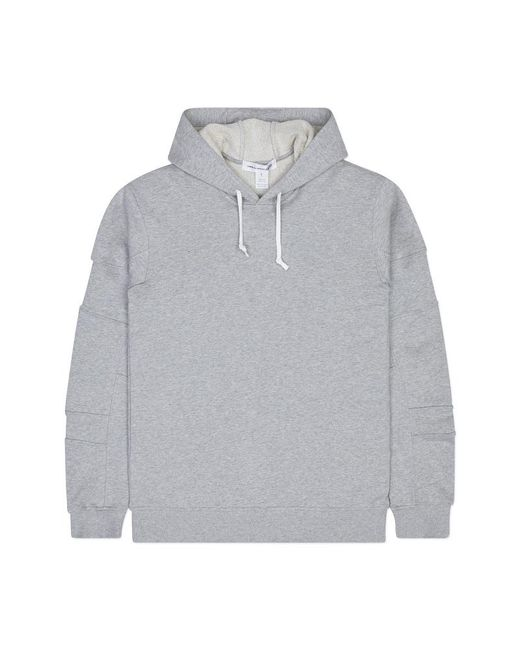 Comme des Garçons - Gray Cotton Jersey Hooded Sweatshirt for Men - Lyst