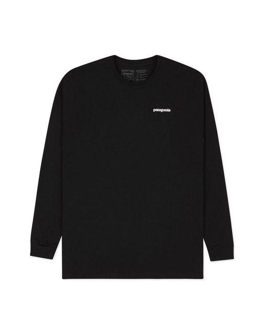 Patagonia - Black P-6 Logo Responsibili Long Sleeves T-shirt for Men - Lyst