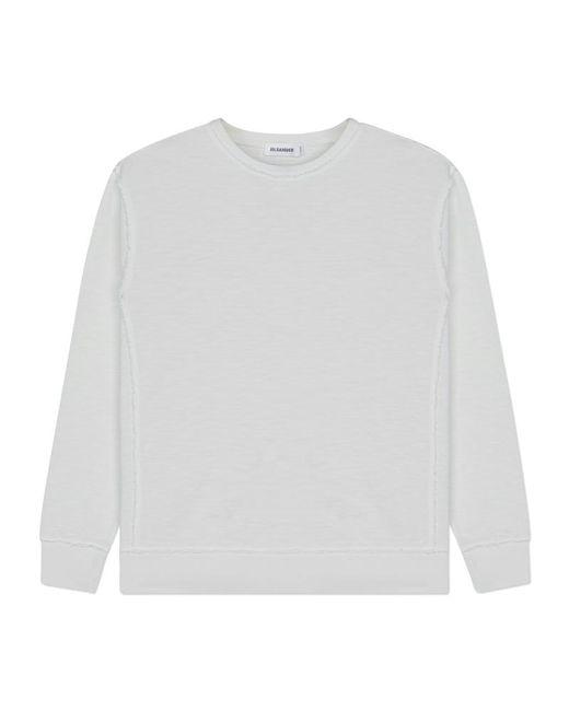 Jil Sander - White Sweatshirt Cn Longsleeve T-shirt for Men - Lyst