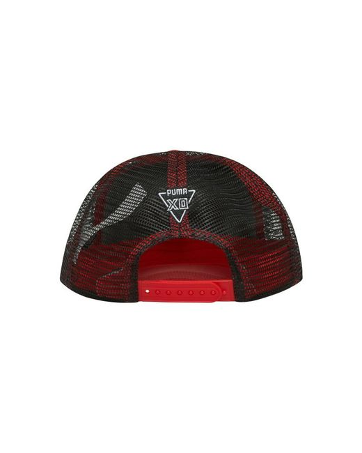 365a8e891ef95 PUMA Xo Homage Trucker Hat in Red - Save 22.5% - Lyst