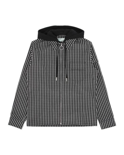 d047092cdfabcb Off-White c/o Virgil Abloh - Multicolor Diag Striped Hooded Shirt for Men  ...