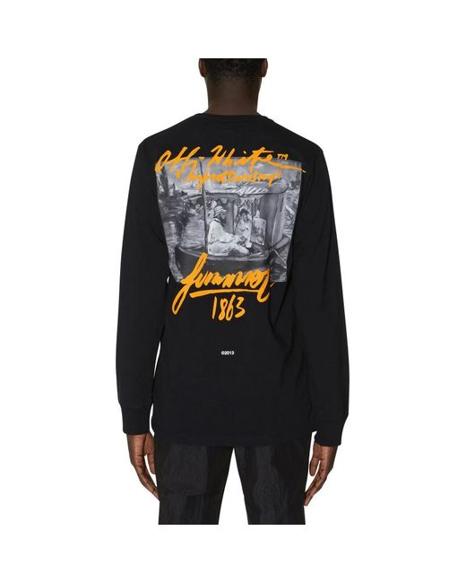 7a27fa98 Off-White c/o Virgil Abloh Summer Long Sleeves T-shirt in Black for ...