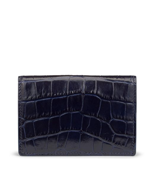 Smythson - Blue Card Case With Press Stud - Lyst