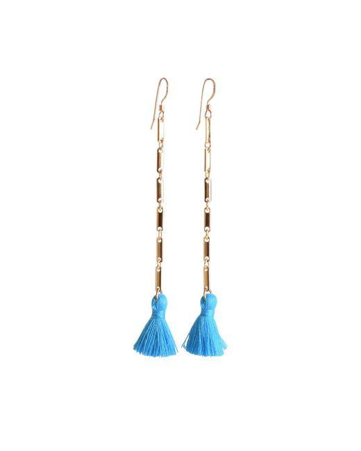 a.wattz dezigns - Blue The Duster Earrings - Lyst