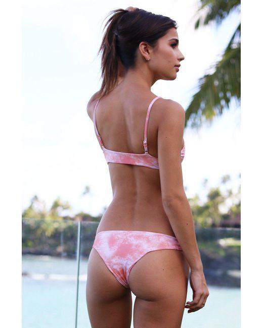 Tori Praver Swimwear - Pink Swimwear Chiara Bottom In Coral Dust Tie Dye - Lyst
