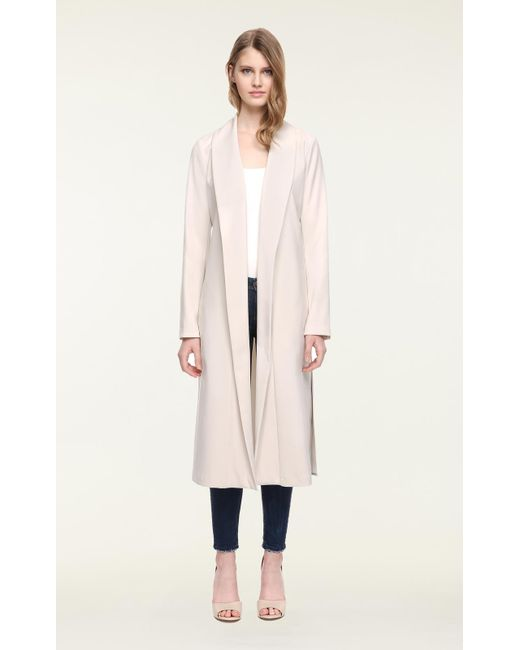 SOIA & KYO - Multicolor Soia&kyo - Dessie Straight-fit Belted Coat With Long Draped Collar - Lyst