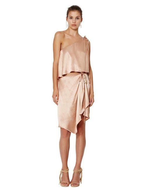 Bec & Bridge | Multicolor Dahlia Asymmetrical Dress In Blush | Lyst