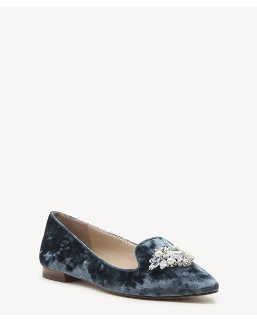Sole Society - Blue Libry Bejeweled Flat - Lyst