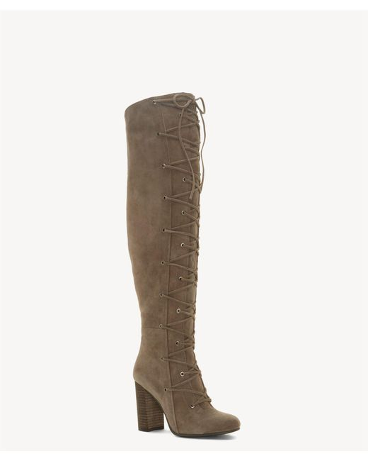 Vince Camuto - Multicolor Thanta Lace Up Tall Boot - Lyst