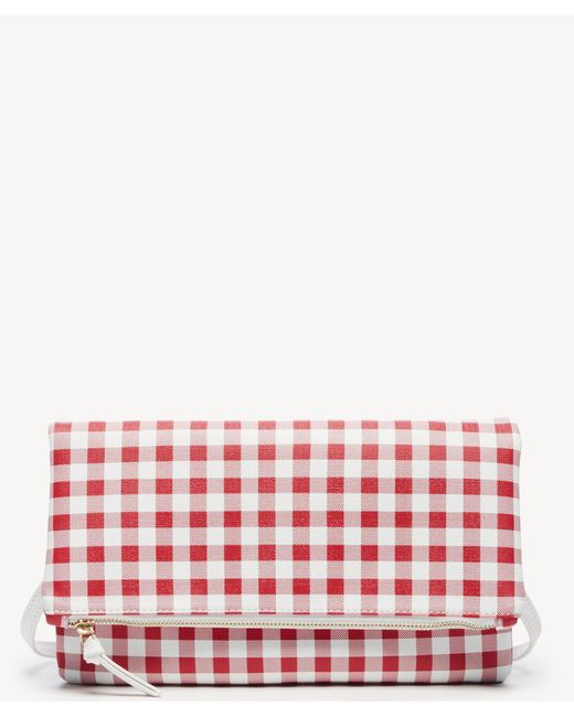 Sole Society - Red Jacey Clutch Foldover Clutch - Lyst
