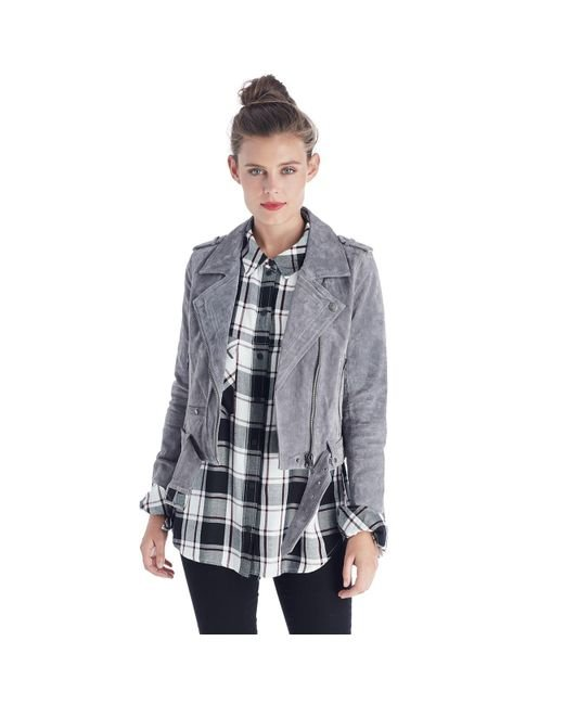 Blank NYC | Gray Silver Screen Jacket | Lyst