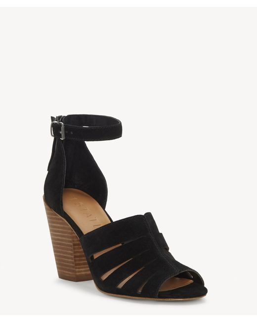 1.STATE - Black Nallay Block Heel Sandal - Lyst