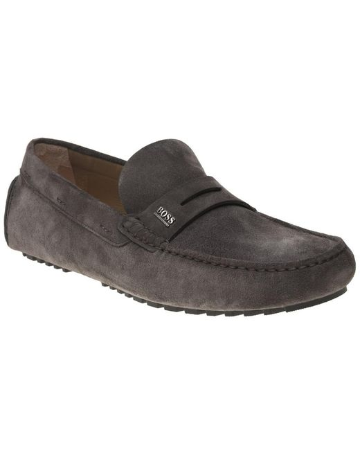 BOSS - Gray Driver Mocc Sdpe Shoes for Men - Lyst