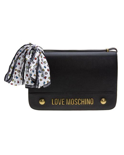 14360ae150cc Love Moschino - Black Cross Body Handbag - Lyst ...