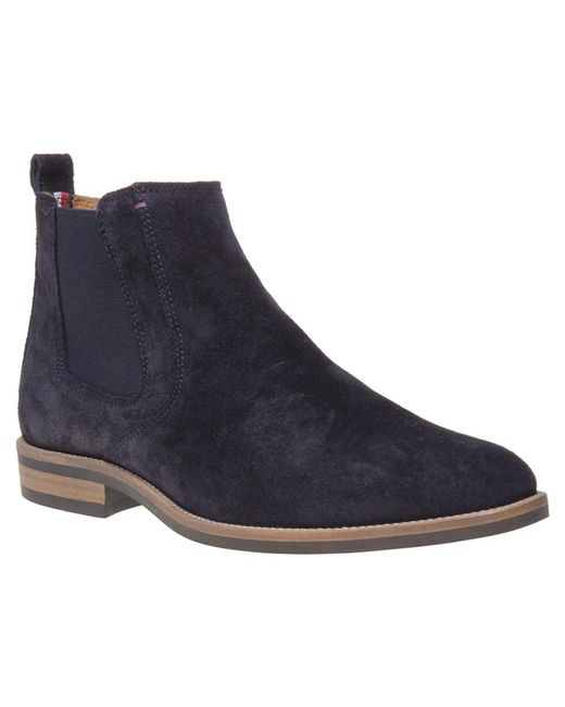 Tommy Hilfiger - Blue Daytona Chelsea Boots for Men - Lyst