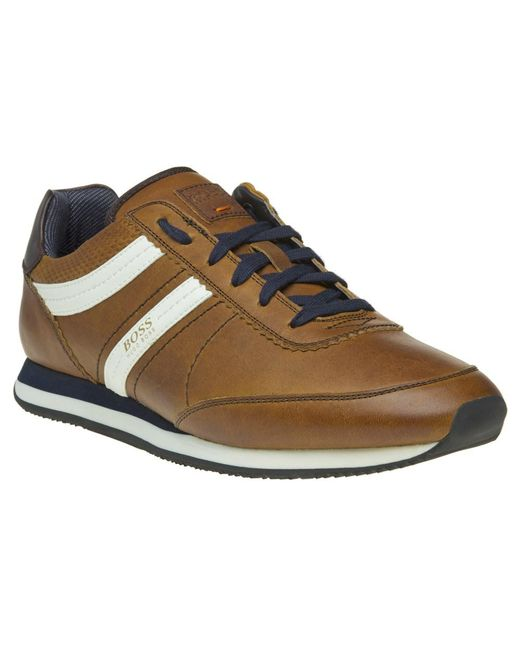 BOSS Orange | Brown Adrenal Runn Trainers for Men | Lyst