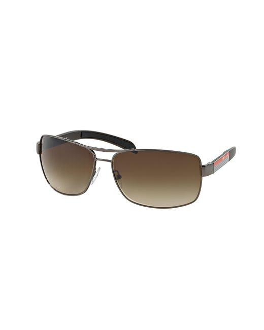 Prada - Brown 54is Navigator Sunglasses - Lyst