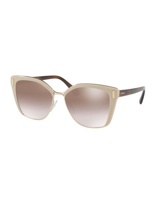 Prada - Brown 56ts Cat Eye Sunglasses - Lyst