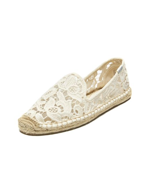 Soludos | White Tulip Lace Classic Smoking Slipper | Lyst