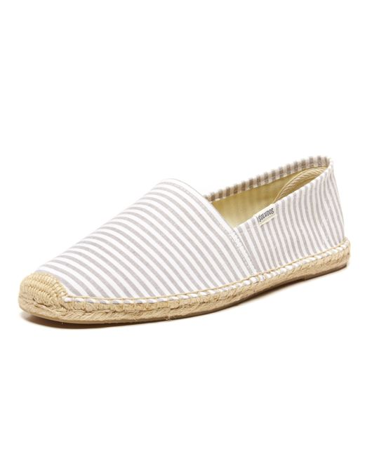 Soludos | White Seersucker Original Twill Espadrilles for Men | Lyst