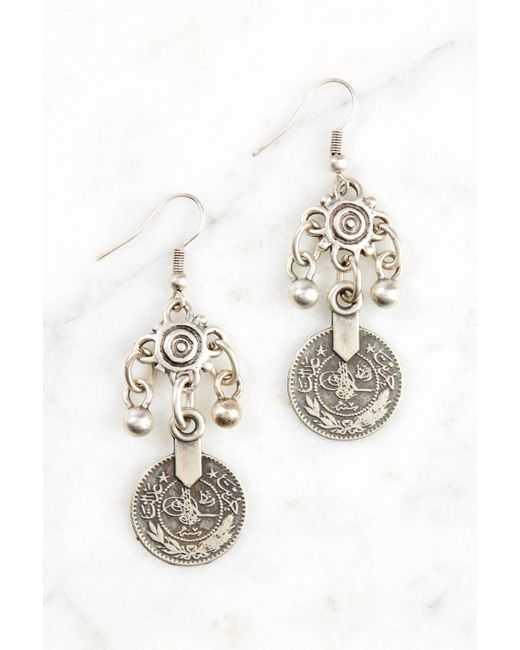 South Moon Under Metallic Pewter Coin Earring Lyst