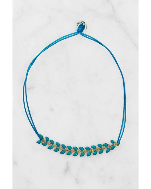 South Moon Under | Herringbone Blue Bracelet | Lyst