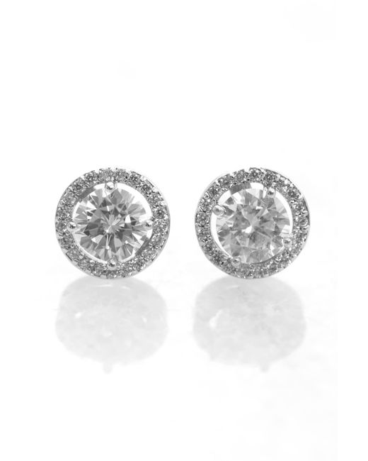 Laudica | Metallic Large Cz Stud With Cz Wreath | Lyst