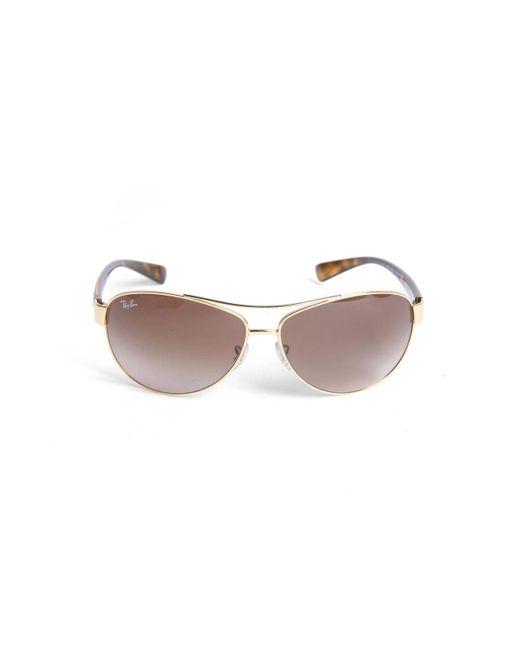 South Moon Under - Metallic Plastic Temple Aviator Sunglasses - Lyst