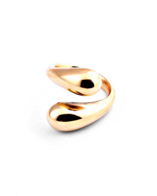 South Moon Under - Metallic Twisted Dash Ring - Lyst