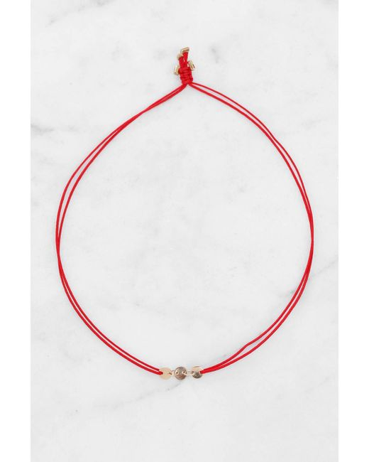South Moon Under | Three Coins Red Bracelet | Lyst