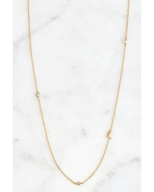 South Moon Under - Metallic Gold Alphabet Necklace L - Lyst