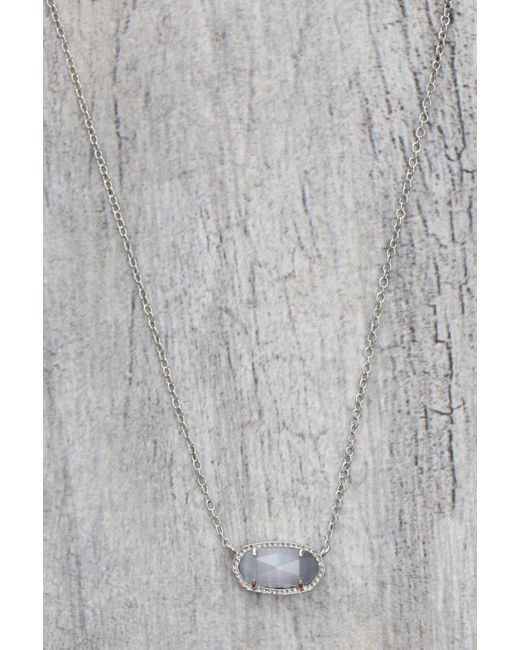 d.RA | Gray Elisa Pendant Necklace In Slate | Lyst