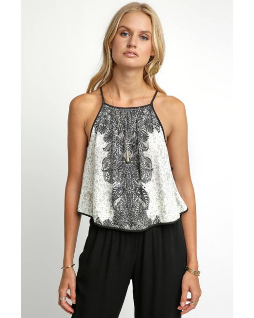 South Moon Under - White Break Free Printed Tank Top - Lyst