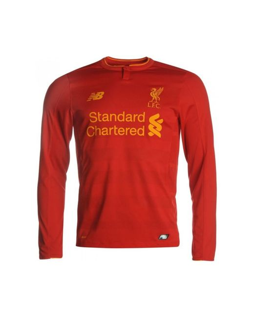59041f6c959 ... discount code for new balance 2016 17 liverpool home long sleeve shirt  emre can 23 57d07