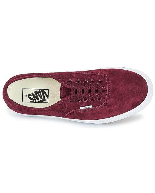 f74857f3530 ... Lyst Vans - Authentic Platform 2.0 Women s Shoes (trainers) In Red ...