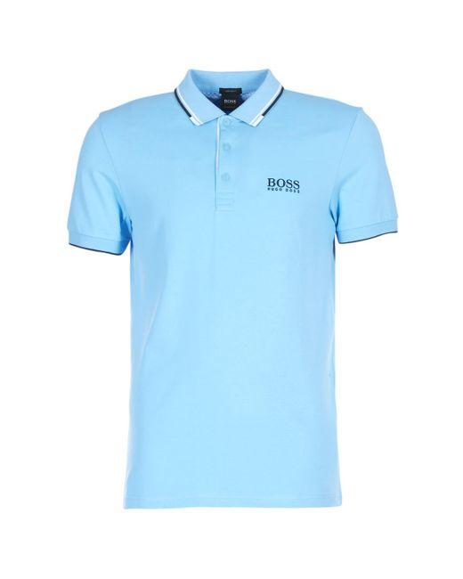 BOSS Athleisure - 50326299 Men's Polo Shirt In Blue for Men - Lyst