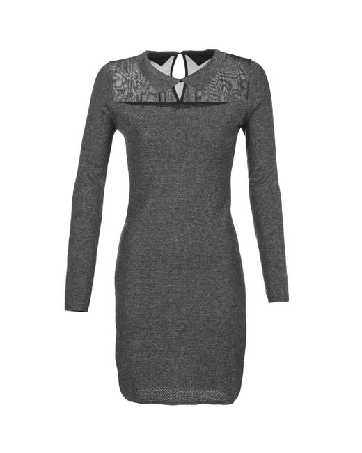Betty London | Gray Flouelle Women's Dress In Grey | Lyst