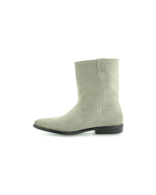 Guess Bottines Vivan Printed Leather Bootie Grey Guess b1RL852V